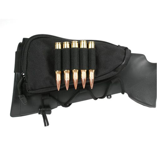 Blackhawk Tactical Adjustable Black Cheekpad w/ Ammo Holder - Item# GS-BLK90CP02BK Only $28.95