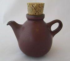 Vintage EDITH HEATH Ceramics Small Teapot PLUM w/Cork Stopper California Pottery