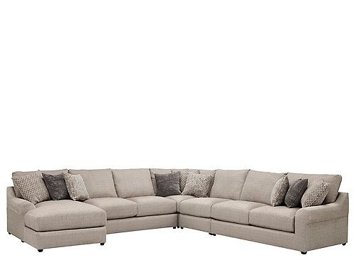 Hartsdale 5 Pc Sectional Sofa Sectional Sofa Pink Accent