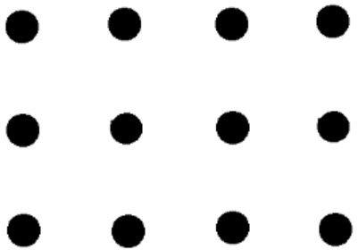 """""""über die Grenzen gehen"""" = to exceed your limits: 12 Punkte ➞ mit 5 geraden Linien ohne abzusetzen verbinden UND die Verbindung in sich schließen (vernetzen) ... #Mathematik #Geometrie #Psychologie /via abyssbrain @ Wordpress.com"""