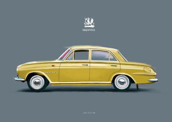 A Vauxhall Victor painted for a Danish client. By Jonas Linell 2016. #carart #classiccars #vauxhall #victor #vintage #cars #car #illustration #classic #british #UK #GB #art #posters #painting #artwork