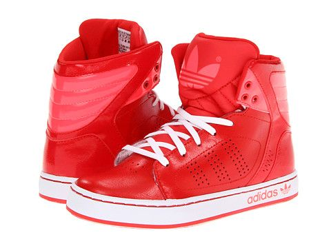 boys red high top adidas originals