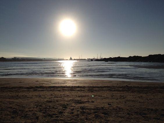 Playa Vilanova i la Geltrú en Vilanova i la Geltrú, Cataluña