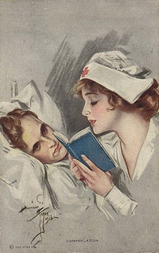 Our love story, patient & nurse.... Although I don't recall reading Steven a book