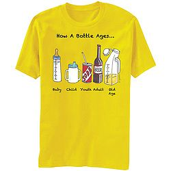 """""""Timeline in a bottle"""" depicts the liquid stages of life."""