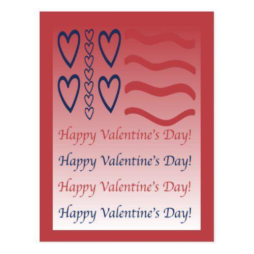 Us Patriotic Red Happy Valentine S Day Postcard Zazzle Com In 2020 Happy Valentine Happy Valentines Day Valentines