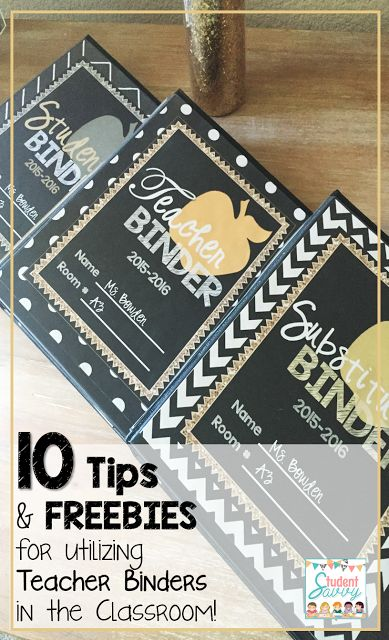 Great tips and freebies on creating the perfect teacher's binder!