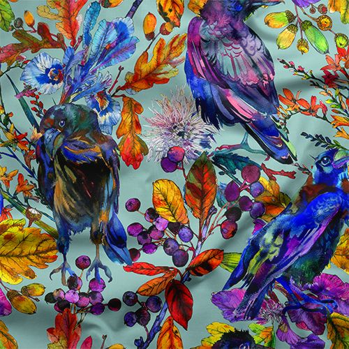 Ravenswood Dream Fabric By The Yard Peel And Stick Wallpaper Wallpaper Bird Wallpaper