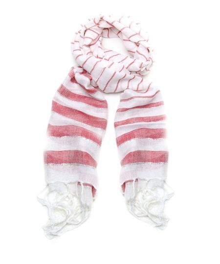 Candy Striper Scarf - Red and White  $13.50