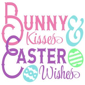 Silhouette Design Store: bunny kisses easter wishes