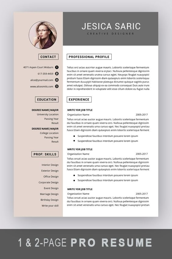 Professional Resume Template Instant Download 3 Page Resume Resume Template Word Cv Cv Template Curriculum Vitae Cover Letter Modern Resume Template Professional Resume Template Resume Template Word