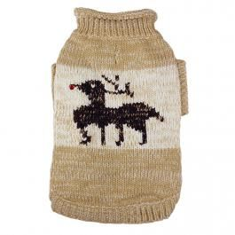 Süßer Hundepulli mit Rentier. Dog sweater with reindeer.