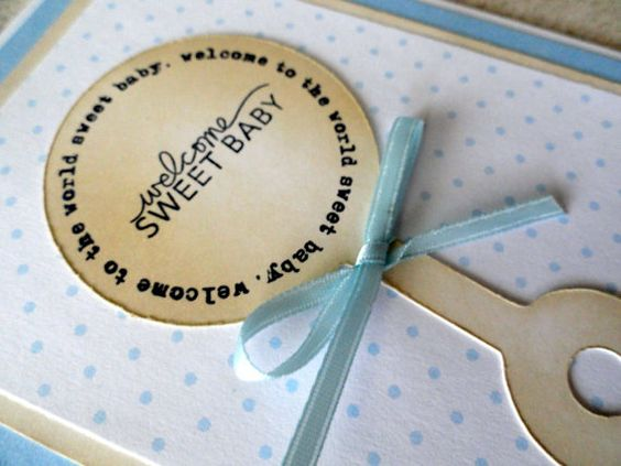 Love this one for a new sweet baby boy!