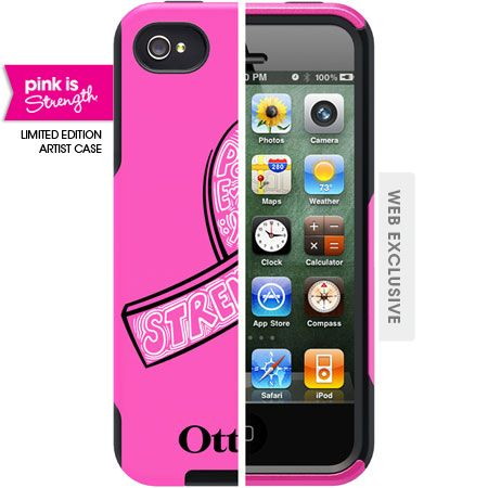 """When you purchase the OtterBox Commuter Series """"Strength"""" case for iPhone 4 / 4S, 10% of the purchase price will be donated to the Avon Breast Cancer Crusade. Funding will support finding a cure for breast cancer and advancing access to care for all, regardless of ability to pay."""