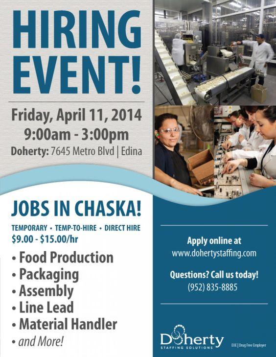 Doherty Job Fair Friday, April 11 in Edina Assembly, packaging - 9 sample job fair reports