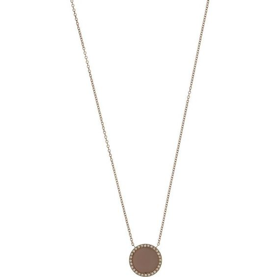 MICHAEL KORS JEWELLERY Logo disc necklace ($150) ❤ liked on Polyvore featuring jewelry, necklaces, rose gold, red gold jewelry, rose gold necklace, chain jewelry, michael kors jewelry and chain necklace