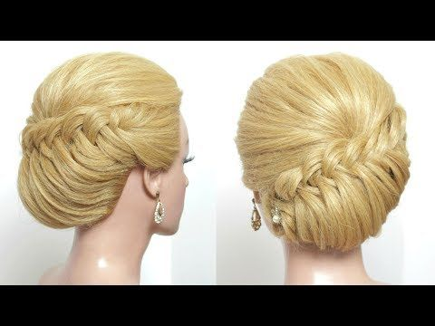 Easy Wedding Prom Updo Tutorial For Long Medium Hair Youtube Easy Hairstyles For Long Hair Medium Hair Styles Easy Hairstyles