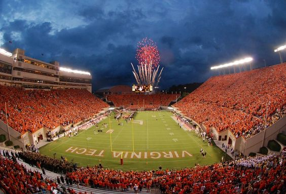 Virginia Tech football -Lane Stadium Gotta be some of the best fans in the entire country!