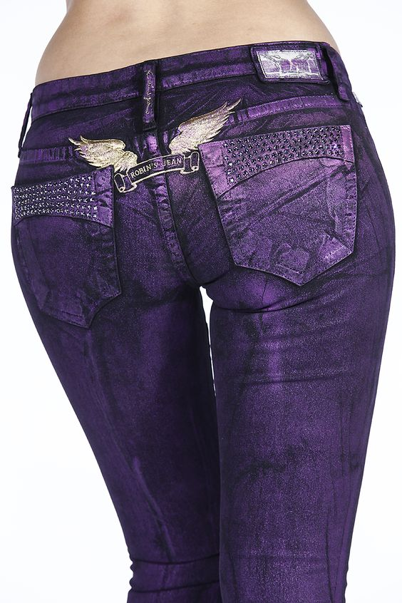 Robin's Jean Purple Night Fever Womens Jeans! Absolutely stunning :)