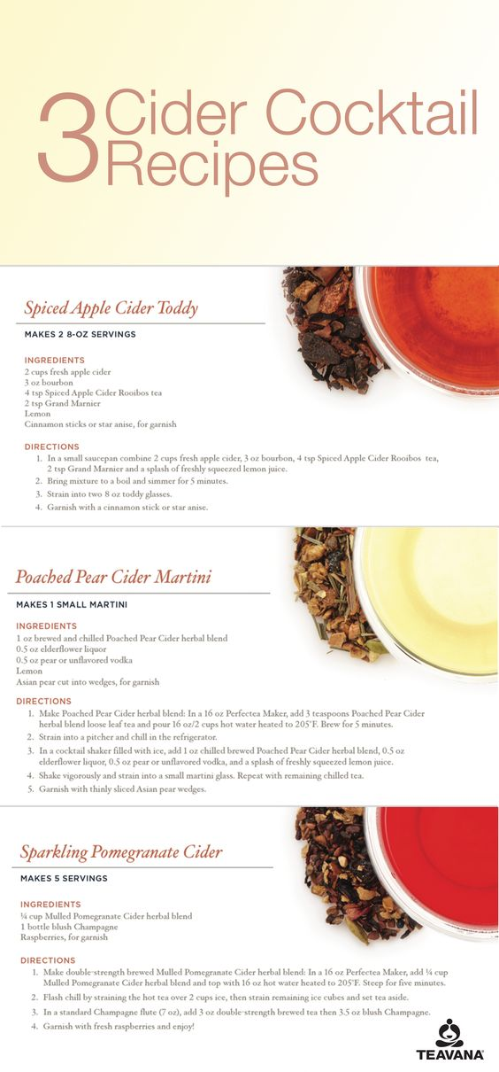Pear cider, Cocktail recipes and Poached pears on Pinterest