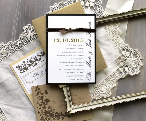 Pinterest The worlds catalog of ideas – Rustic Elegance Wedding Invitations