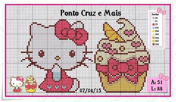 """Delicado Cantinho: Semaninha em Ponto Cruz """"Hello Kitty"""""""