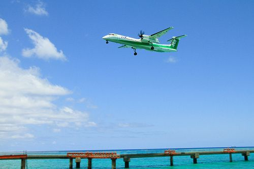ANA's DHC-8-Q400 in training