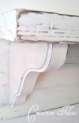 That's So Pretty: How To Make a Simple Mantel Shelf