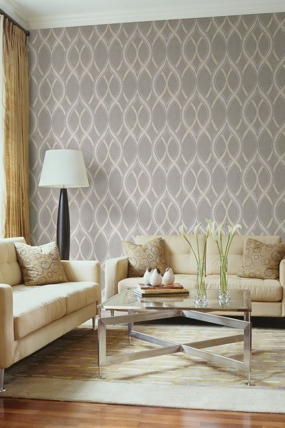 Frequency Grey Ogee Brewster Ultra Removable Wallpaper by Brewster Home Fashions on @HauteLook
