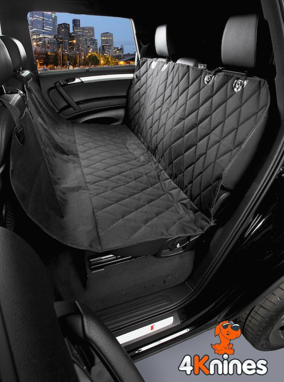 4knines Luxury Dog Seat Cover Black Standard Size