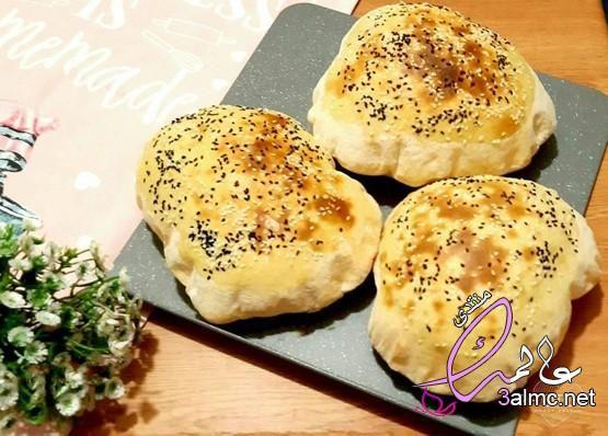 خبز الزبادي المنفوخ طريقة عمل طريقة عمل خبز الزبادي خبز الزبادي الطري Hamburger Bun Food Bread