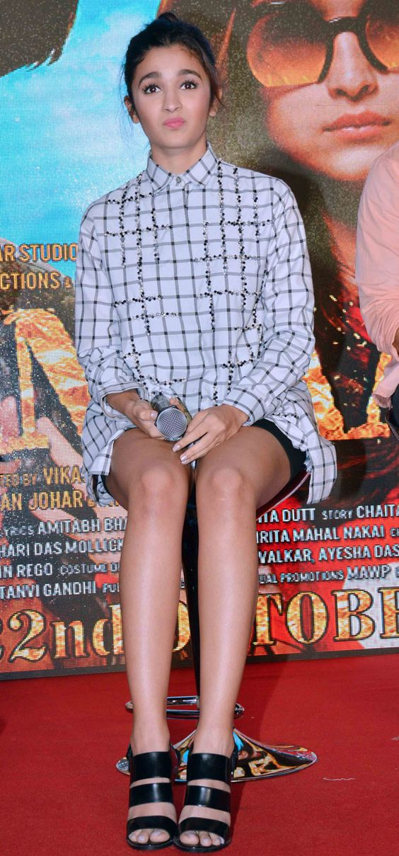 Alia Bhatt at the launch of a song from #Shaandaar. #Bollywood #Fashion #Style #Beauty #Hotpants #Cute: