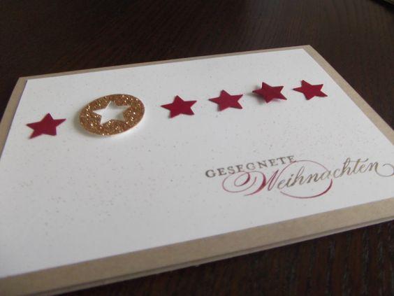 Sterne, Sterne, Sterne - Stampin Up + Weihnachten