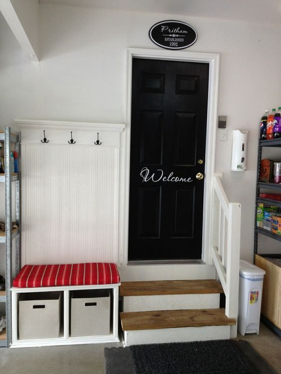 For garage entry which is usually an otherwise very boring or messy entry....AWESOME!: