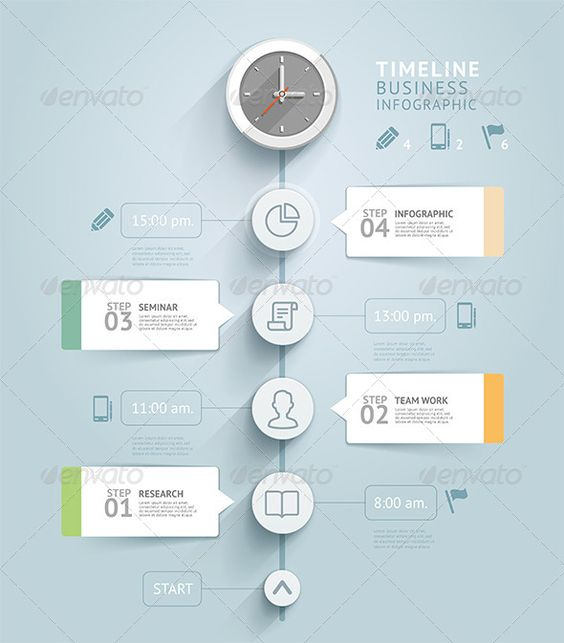 Timeline Infographic Template   Timeline, Timeline infographic and ...