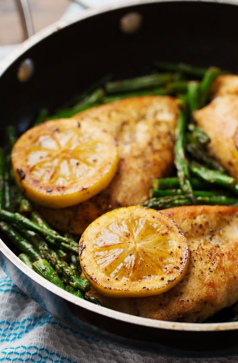 5 Ingredient Lemon Chicken With Asparagus Recipe