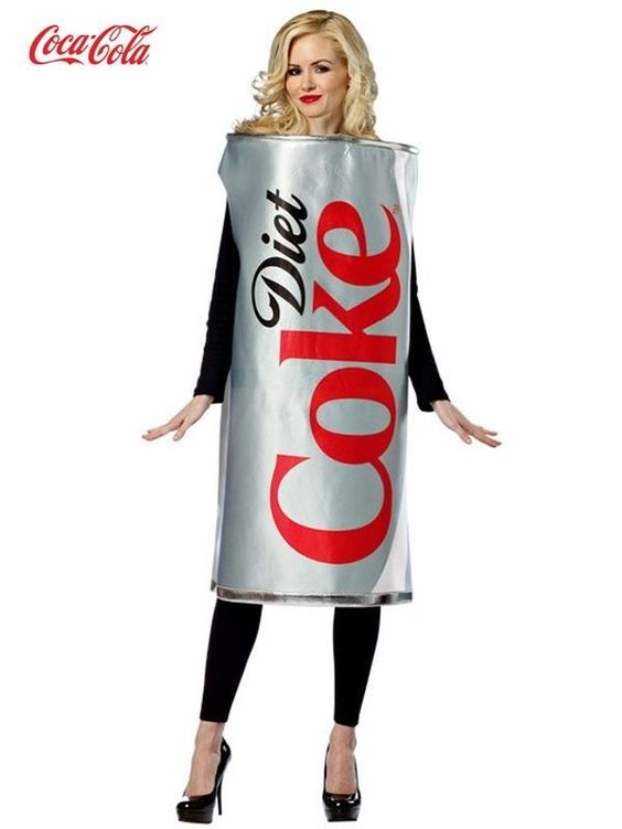 Unisex Diet Coke Can Tunic Adult Costume
