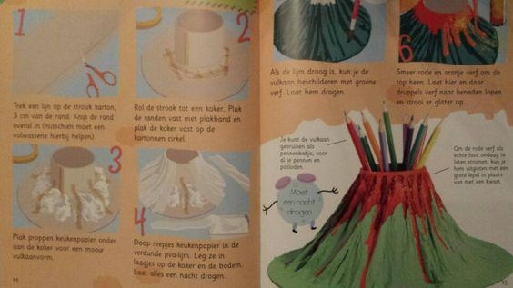 3d knutsel: vulkaan
