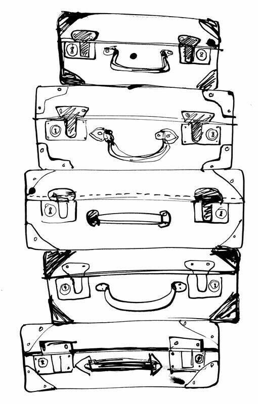Suitcase Doodle Ideas Doodle Art Easy Doodles Bullet Journal Planner Sketchbook Sketch Book Drawing Illustrations Art Journal