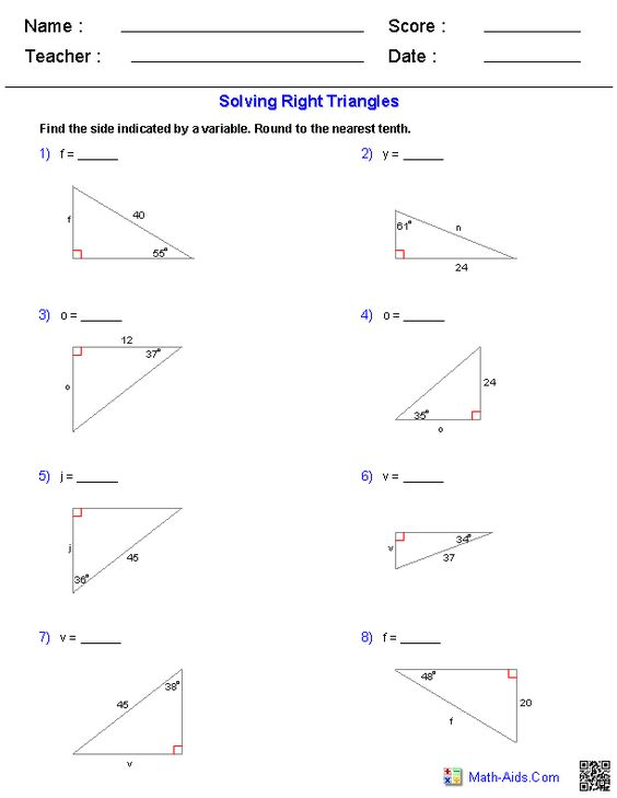 Worksheets Solving Right Triangles Worksheet pinterest the worlds catalog of ideas solving right triangles worksheets