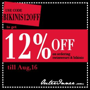 12% off of swimwears/bikinis By 16/8/2012