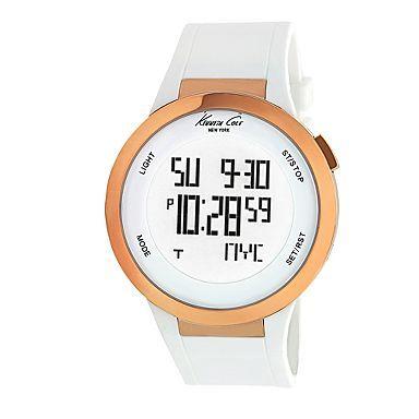 Women's white touch screen digital watch - Digital - Watches - Women -