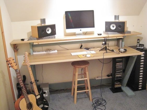 A Desk For My Music Stuff When I Move It To The Garage If I Get A - Cheap recording studio furniture
