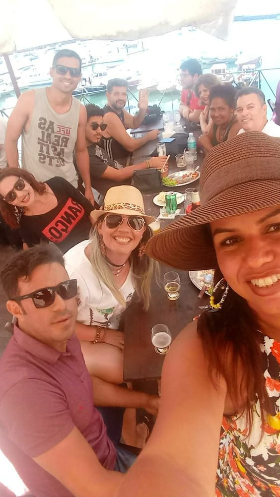 """Em primeiro plano as """"sadásticas"""" tudo junto e misturado com Maceió, Guarulhos, Águas Lindas de Goiás, Campo Grande no VIII Erefau em Lauro de Freitas, BA, nos dias 16, 17 e 18/08/2018."""