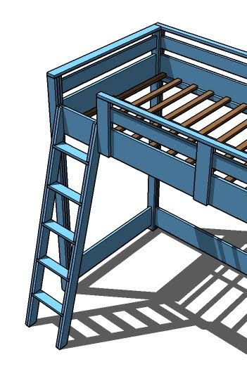 Best Loft Bed Plans Furniture And Ana White On Pinterest 400 x 300