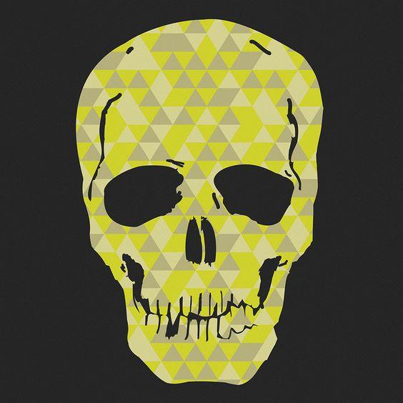 Quadro - Triangles Skull - Decohouse