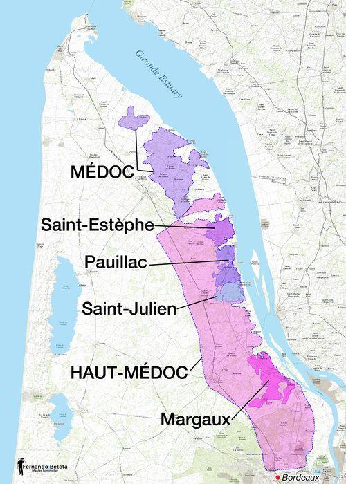 France Bordeaux Medoc France Wine Wine Map Bordeaux Wine