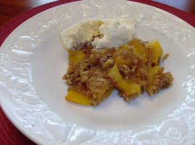 Slow-Cooker Peach Crisp Recipe from 365 Days of Slow Cooking