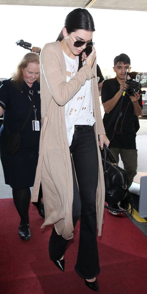 How to Pull Off Every Jean Style Like Kendall Jenner - Jean Type: Boot-Cut Flares - from InStyle.com