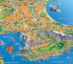 Capetown Tourist Map - Capetown South Africa • mappery